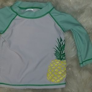 Other - Swim Shirt SPF Baby Unisex 6-9 months Pineapple